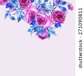 floral background delicate pink ... | Shutterstock . vector #271090811