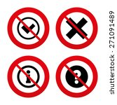 no  ban or stop signs.... | Shutterstock .eps vector #271091489