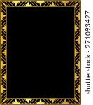 decorative gold frame on a... | Shutterstock . vector #271093427
