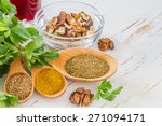 georgian walnut sauce... | Shutterstock . vector #271094171