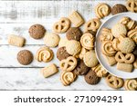 chocolate chip and butter... | Shutterstock . vector #271094291