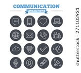 communication linear icons set. ... | Shutterstock .eps vector #271102931