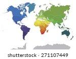 political world map on white... | Shutterstock . vector #271107449