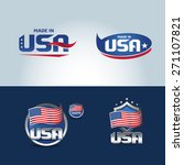 usa and made in usa icons. set... | Shutterstock .eps vector #271107821