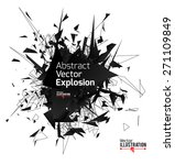 Abstract Black Explosion....