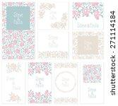 set of wedding invitation cards ... | Shutterstock .eps vector #271114184