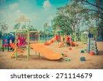 children kid playground for... | Shutterstock . vector #271114679