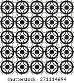 black and white geometric... | Shutterstock .eps vector #271114694