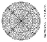 black white round ethnic... | Shutterstock . vector #271115891