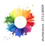 hand drawn watercolor painting... | Shutterstock .eps vector #271118009