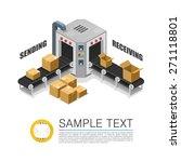 conveyor packing parcels.... | Shutterstock .eps vector #271118801