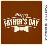 happy father's day label design ... | Shutterstock .eps vector #271118927