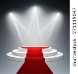 illuminated stage podium for... | Shutterstock .eps vector #271119047