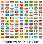 flag of world. vector icons set | Shutterstock .eps vector #271119185