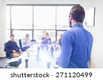 business man making a... | Shutterstock . vector #271120499