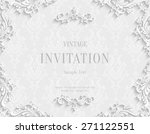 vector white vintage background ... | Shutterstock .eps vector #271122551