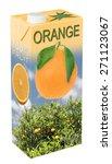 fresh orange juice in beverage... | Shutterstock . vector #271123067