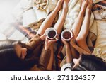 soft photo of two  sisters  on... | Shutterstock . vector #271124357