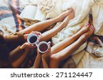 soft photo of two  sisters  on... | Shutterstock . vector #271124447