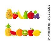 organic farm fruits... | Shutterstock .eps vector #271125239