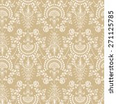 lace seamless pattern with... | Shutterstock .eps vector #271125785