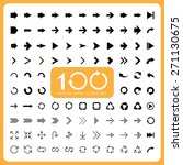 100 basic arrow sign icons set... | Shutterstock .eps vector #271130675