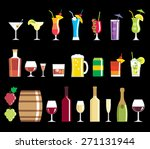 Alcohol Drink Icons   Vector Set