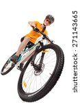 attractive adult woman cyclist... | Shutterstock . vector #271143665