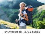 travel  traveler  backpack. | Shutterstock . vector #271156589