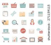 flat icons   shopping | Shutterstock .eps vector #271159115