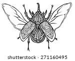 zentangle style beatle vector... | Shutterstock .eps vector #271160495