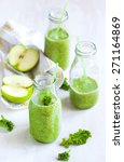 Green Juice In Bottle. Healthy...