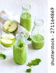Green Juice In Bottle. Healthy...