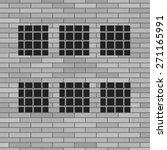 Vector Prison Grey Brick Wall...