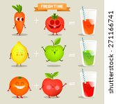 A Set Of Cute Fruit....