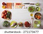 healthy eating concept with... | Shutterstock . vector #271173677