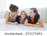 mature sisters twins at home... | Shutterstock . vector #271177691