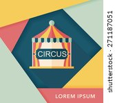 circus flat icon with long... | Shutterstock .eps vector #271187051