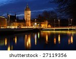 Stock photo swiss national museum schweizerisches landesmuseum in zurich at night switzerland 27119356