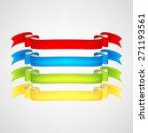 vector ribbons set | Shutterstock .eps vector #271193561