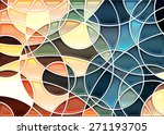 abstract geometric mosaic... | Shutterstock .eps vector #271193705