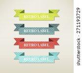 vintage elements set | Shutterstock .eps vector #271193729
