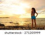aspirations   woman looking... | Shutterstock . vector #271205999