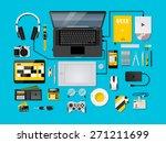 blue ice complete modern vector ... | Shutterstock .eps vector #271211699