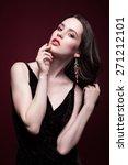 portrait of young beautiful...   Shutterstock . vector #271212101