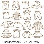 clothes collection  vector... | Shutterstock .eps vector #271212947