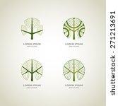 Green Tree Logo. Green Circle...