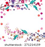 watercolor flowers background... | Shutterstock .eps vector #271214159