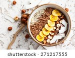 chocolate hazelnut smoothie... | Shutterstock . vector #271217555