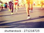 marathon running race  people... | Shutterstock . vector #271218725